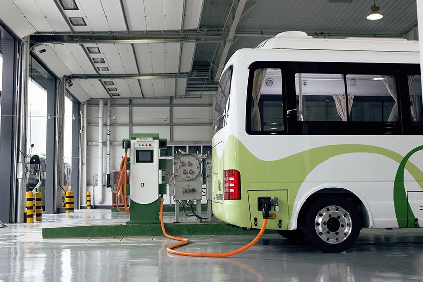 Buses eléctricos carga