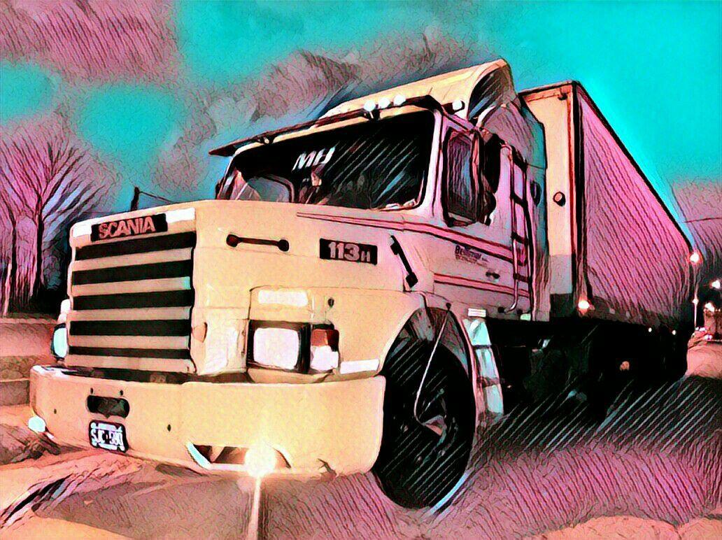 Un Scania con filtro