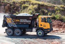Camión Scania Heavy Tipper en Expo Minera Internacional, la cual se realizará en la provincia de San Juan.