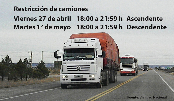 Restricción de Camiones por el Feriado del Día del Trabajador