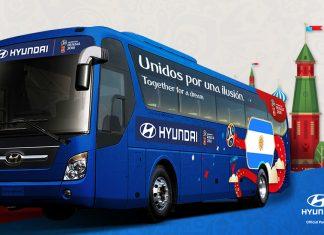 Hyundai provee los buses de Rusia 2018
