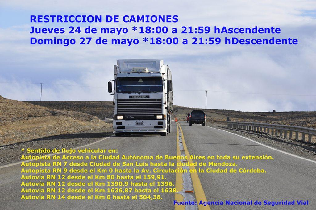 Restriccion de camiones mayo