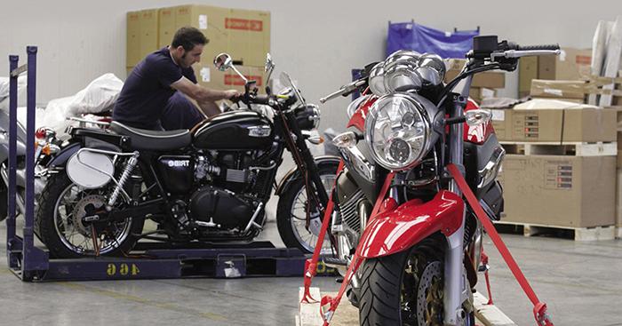 GEFCO ofrece una solución innovadora para la industria de las motos