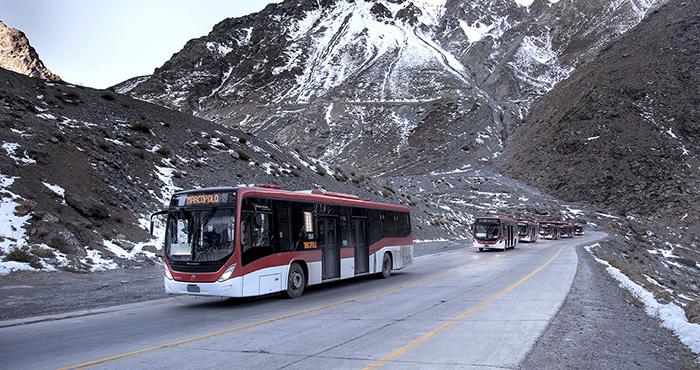 Chile incorpora buses Volvo