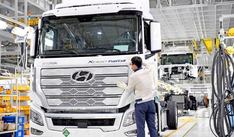 Camiones a hidrógeno en producción