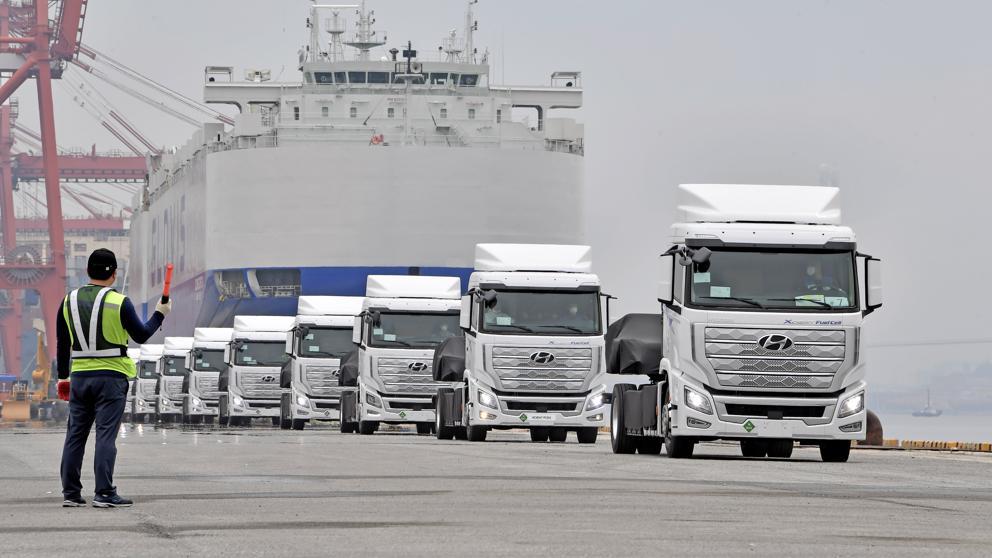 camiones a hidrógeno rumbo a Europa