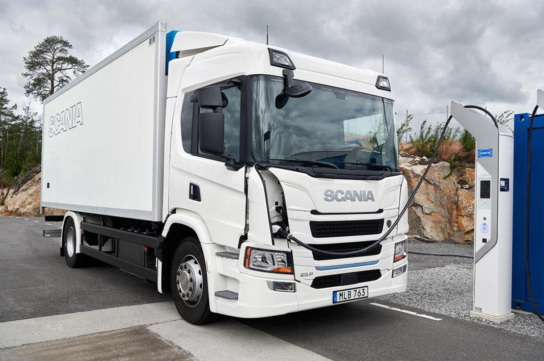 Scania presentó sus camiones eléctricos