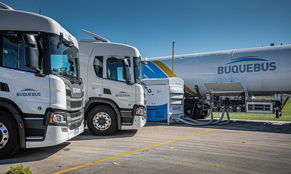 Buquebus adquirio dos Scania a GNL