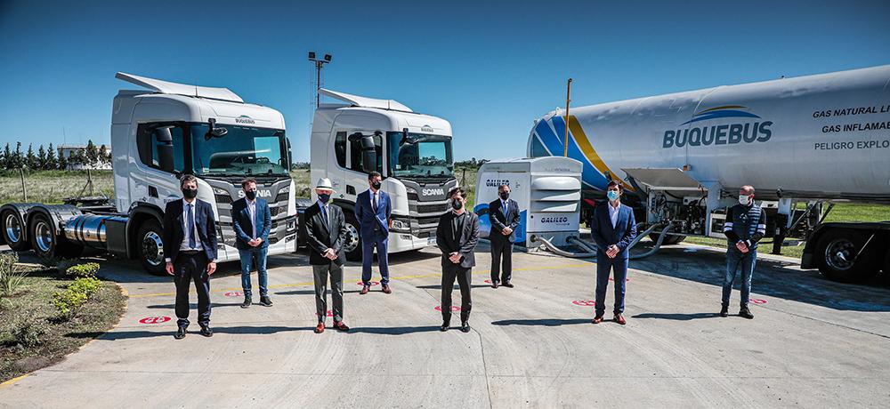 Buquebus adquirió dos Scania a GNL