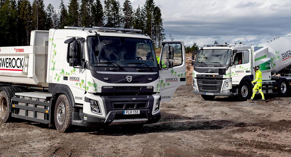 Camiones eléctricos en la construcción