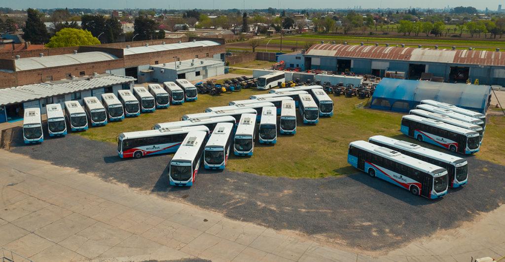 Los Volkbus listos para partir hacia La Rioja