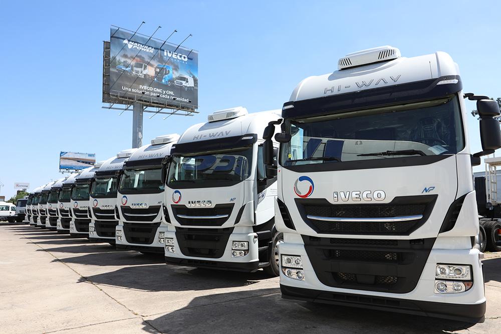 Entrega de camiones a GNC