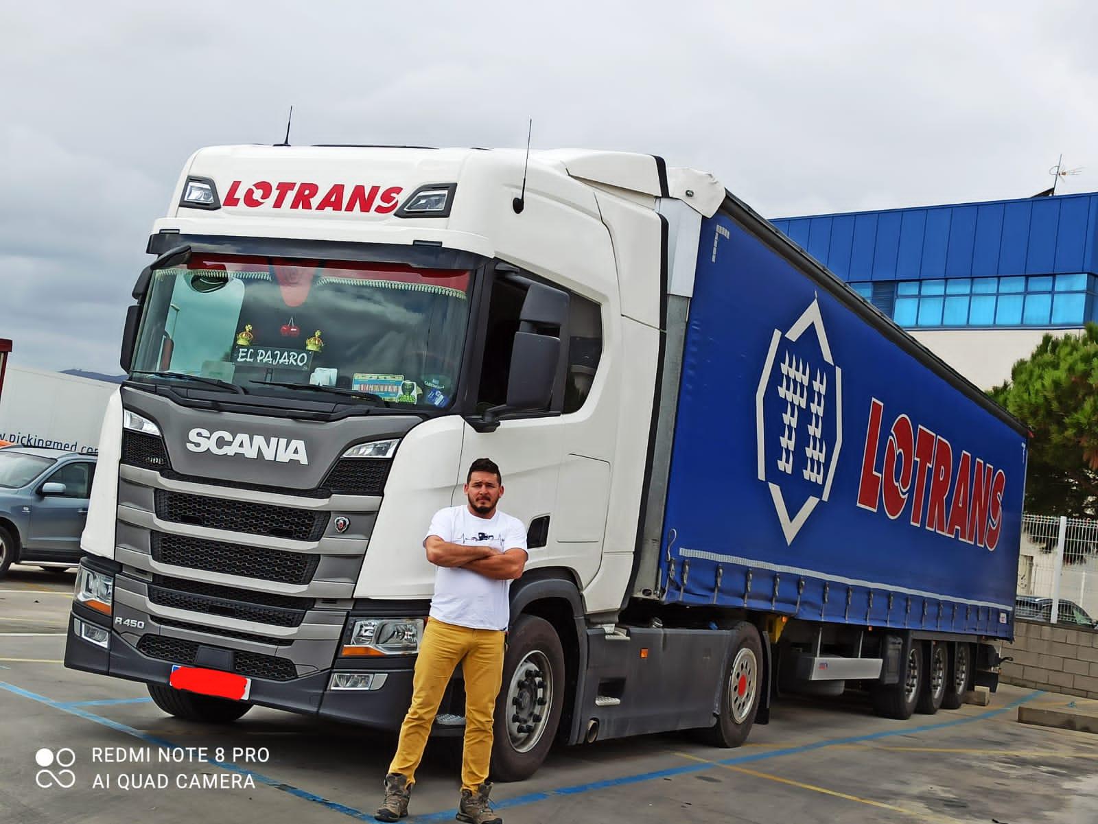 Camionero argentino en Europa