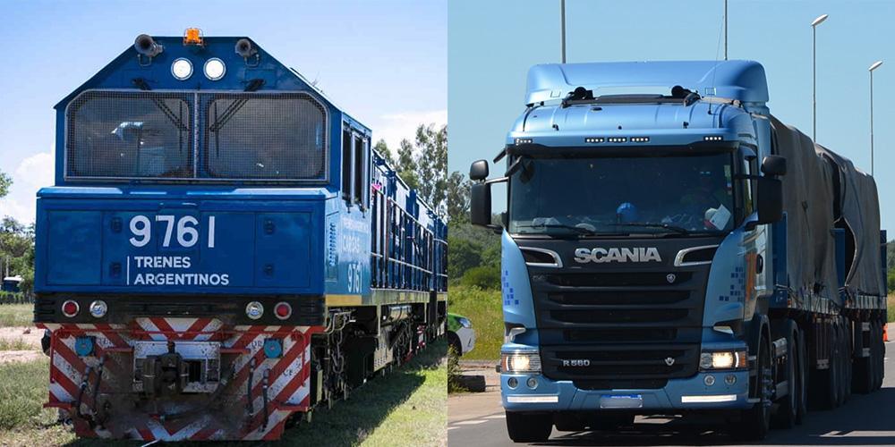 camiones versus trenes