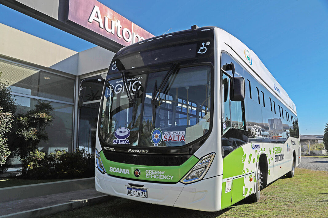Salta prueba el bus a GNC de Scania