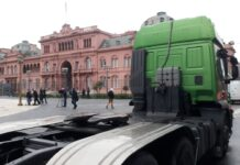 Movilizacion de camioneros autoconvocados