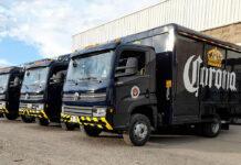 Primera entrega de camiones VW al Grupo Modelo de México